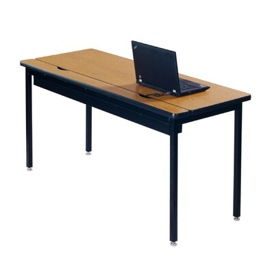 "Training Table with Cable Management Size: 29"" H x 48"" W x 24"" D"