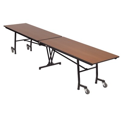 "Rectangular Folding Table Size: 29"" H x 97"" W x 30"" D, Finish: Black / Brown"