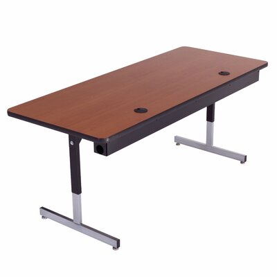 "Training Table with Cable Management Size: 29"" H x 60"" W x 24"" D"