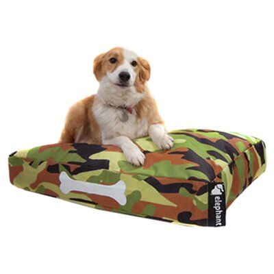 Elephant Beanbags Dog Bed in Jungle Camoflage in Multi-colour
