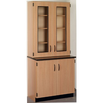 Science 4 Door Storage Accent Cabinet Color: Black, Finish: Walnut