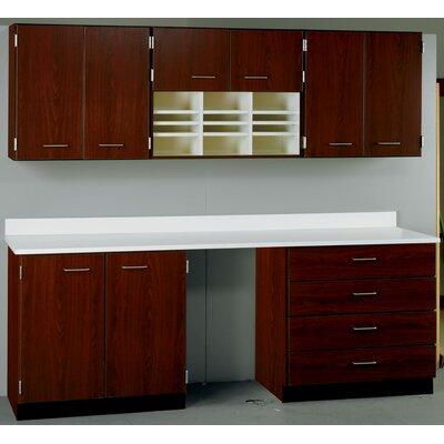 Suites 2 Piece Standard Desk Office Suite with Locks Base Color: Walnut, Top Color: Grey Nebula