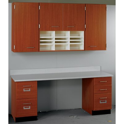 Suites 2 Piece Standard Desk Office Suite Base Color: Fashion Grey, Top Color: Grey Nebula