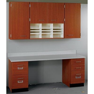 Suites 2 Piece Standard Desk Office Suite with Locks Top Color: Graphite Nebula, Base Color: Grey Nebula