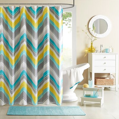 Gibson Shower Curtain Color: Blue
