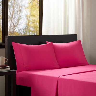 Dima Solid Sheet Set Size: Twin, Color: Pink