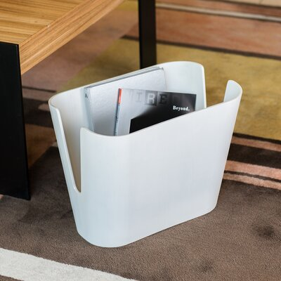 Kita Magazine Rack Color: White