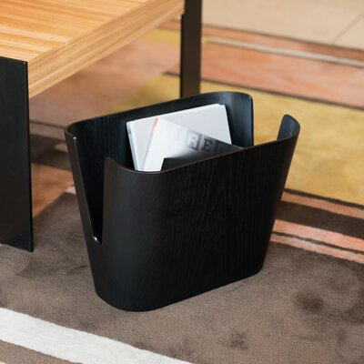 Kita Magazine Rack Color: Black