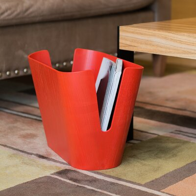 Kita Magazine Rack Color: Red