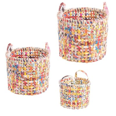 Ian Snow 3 Piece Recycled Basket Set