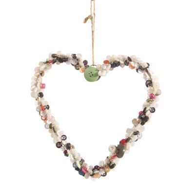Ian Snow Decorative Hanging Button Heart Wall Décor