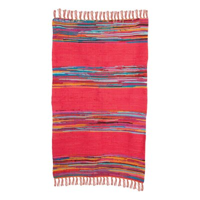 Ian Snow Mexican Hand-Woven Red Area Rug