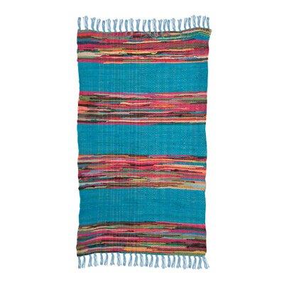 Ian Snow Mexican Hand-Woven Blue Area Rug