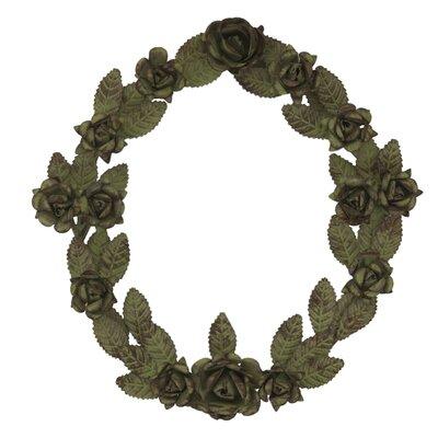 Ian Snow 29cm; Metal Leaf and Rose Wreath