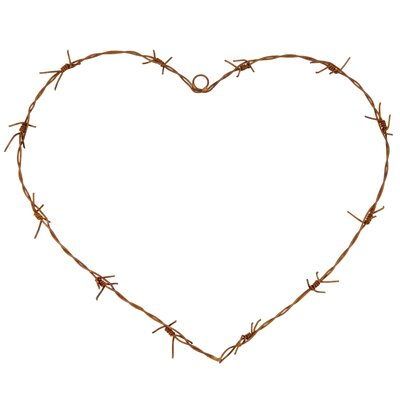Ian Snow Decorative Barbed Wire Heart Wall Décor