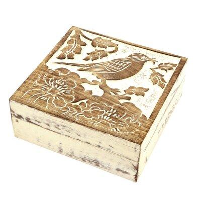 Ian Snow Bird Carved Accessory Box