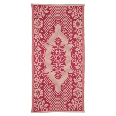 Ian Snow Decorative Red Area Rug