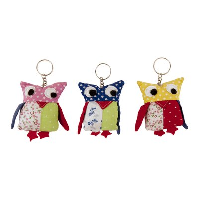 Ian Snow Decorative Multi Fabric Owl Keyring