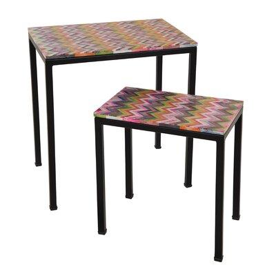 Ian Snow 2 Piece Nest of Tables