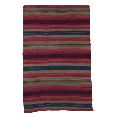 Ian Snow Hand-Woven Red Area Rug