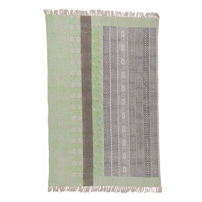 Ian Snow Hand-Woven Lime/Grey Area Rug