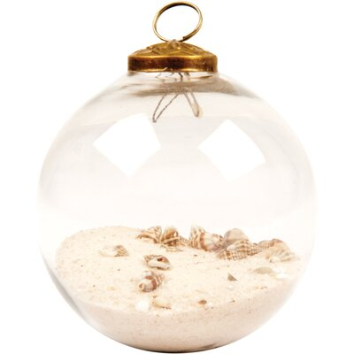Ian Snow 6 Piece Decorative Sand and Shell Filled Bauble Set