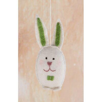 Ian Snow Felt Bunny Hanging Figurine