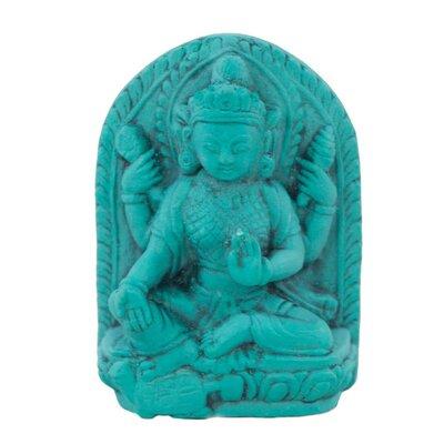 Ian Snow Turquoise Powder Vishnu Figurine