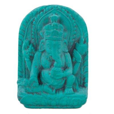 Ian Snow Turquoise Powder Ganesha Figurine