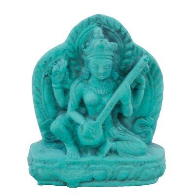 Ian Snow Turquoise Powder Saraswati Figurine