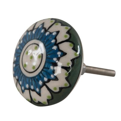 Ian Snow Textured Ceramic Door Knob