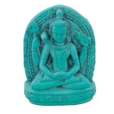 Ian Snow Turquoise Powder Shiva Figurine