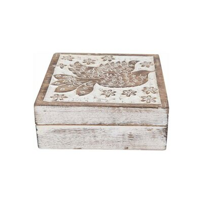 Ian Snow Carved Dove Washed Wooden Box