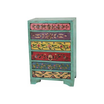 Ian Snow Rustic 6 Drawer Wooden Chest