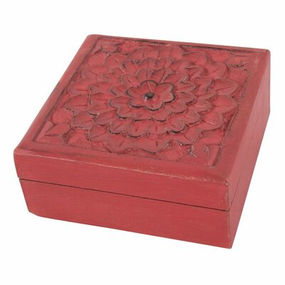 Ian Snow Wooden Carved Decorative Box