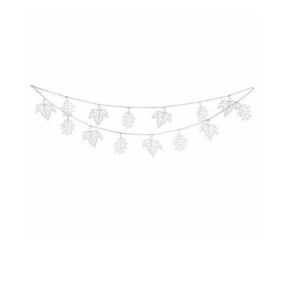 Ian Snow Leaf Paper Bunting Wall Décor