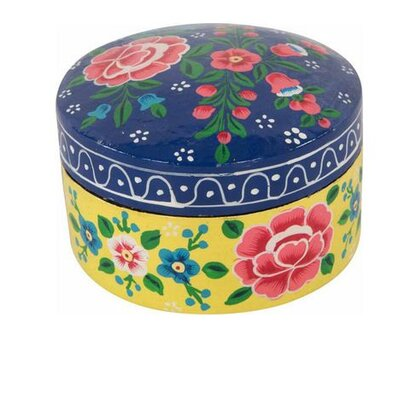 Ian Snow Gypsy Rose Hand Painted Round Papier Mache Box