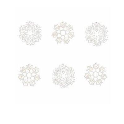Ian Snow 6 Piece Die-Cut Paper Snowflake Decs Approx Wall Décor Set