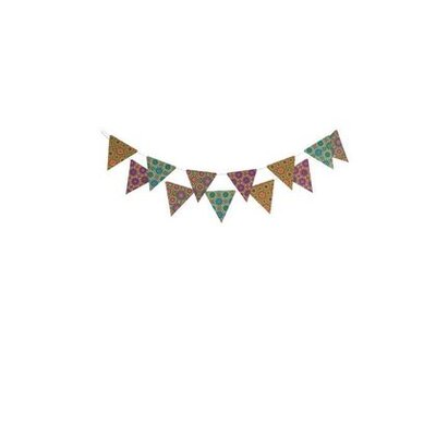 Ian Snow Folky Paper Bunting Wall Décor