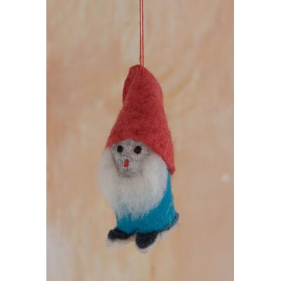 Ian Snow 2 Piece Felt Gnome Hanging Figurine Set