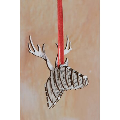 Ian Snow Stag Head Ornament in MDF