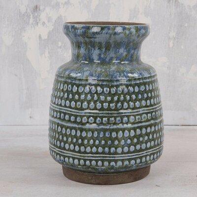 Ian Snow Distressed Azul Vase