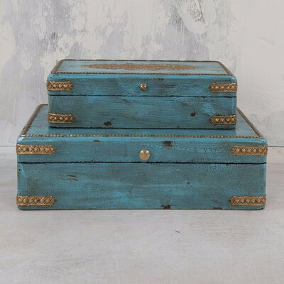 Ian Snow 2 Piece Wood And Metal Box Set