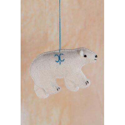 Ian Snow Felt Polar Bear Hanging Figurine