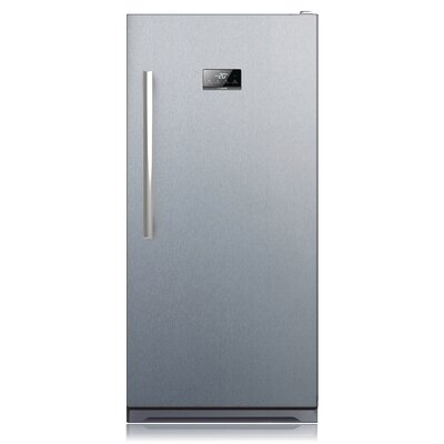Midea 13.8 cu. ft. Frost-Free Upright Freezer Color: Stainless Steel