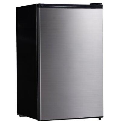 Midea 4.4 cu. ft. Compact Refrigerator Color: Steel