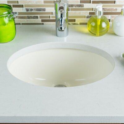 Ceramic Oval Undermount Bathroom Sink with Overflow Sink Finish: Bisque
