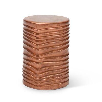 Novak Accent Stool Color: Copper