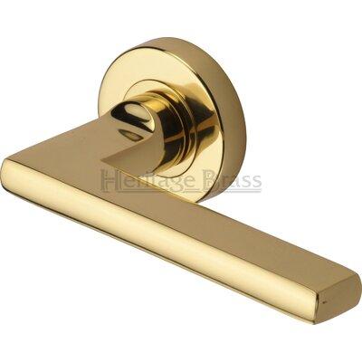 Heritage Brass Trident Lever on Rose Door Handle