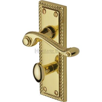 Heritage Brass Georgian Bathroom Door Handle